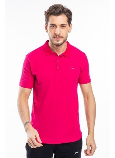 Slazenger Slazenger Soho Erkek T-Shirt Hardal Fuşya